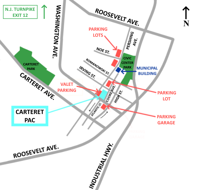 Carteret Performing Arts Center Parking Map